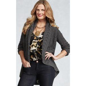 CAbi Circle Sweater Gray Limited Addition XS